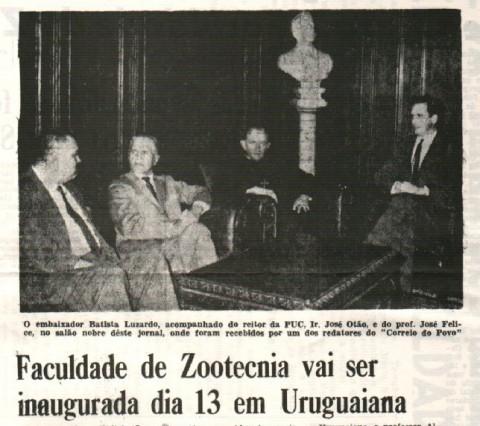Manchetes da década de 60 destacam a criação do curso de Zootecnia