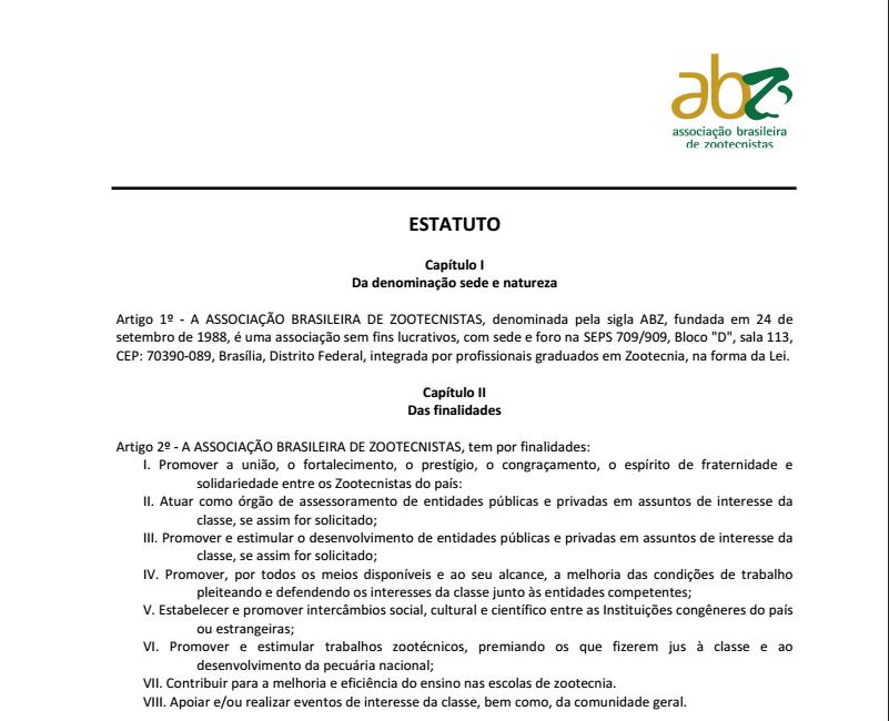 Estatuto Oficial ABZ