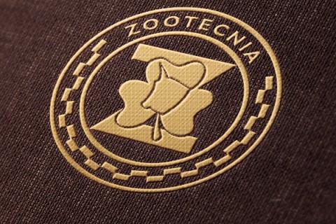 Baixe Zootecnia: logo dourado e frase retrô!