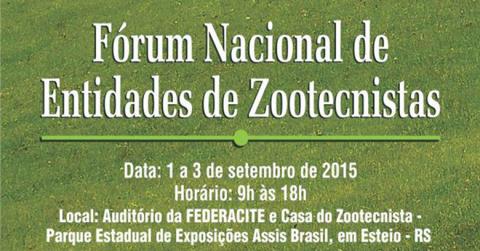 Fórum Nacional de Entidades de Zootecnistas começa nesta terça, em Esteio