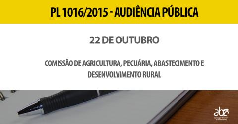 Audiência que debaterá PL 1016/15 terá representantes da zootecnia, veterinária e agronomia