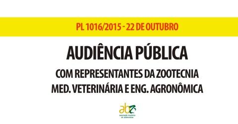 Audiência que debaterá exercício da zootecnia no Brasil será realizada nesta quinta