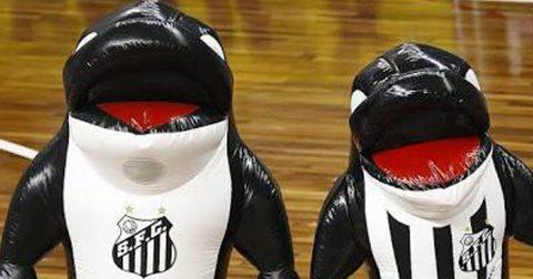 Baleia do Santos FC é o novo mascote do Zootec 2017