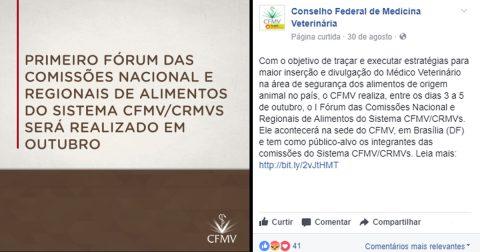 CFMV exclui zootecnistas de evento sobre alimentos de origem animal