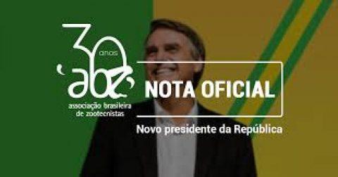 """Nota da ABZ: """"Esperamos que o novo governo acolha as demandas da Zootecnia"""""""