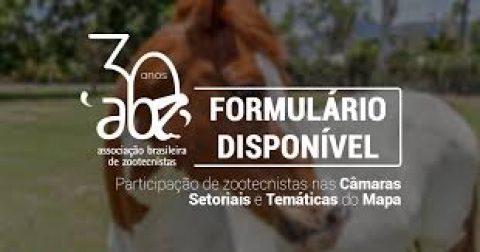 ABZ abre formulário para participação de zootecnistas em setores do Mapa