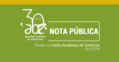 Nota pública da ABZ sobre roubo ao CAZOO/UFPR
