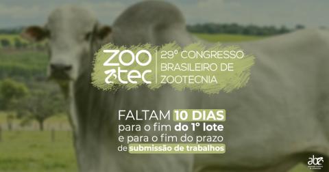 Faltam 10 dias para o fim do 1º lote do Zootec