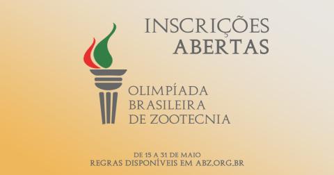 Inscrições abertas para Olimpíada Brasileira de Zootecnia