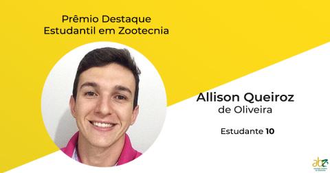 Divulgado o vencedor do Prêmio Destaque Estudantil em Zootecnia, da ABZ